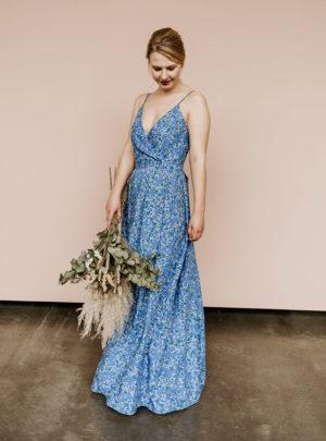 Brautjungfernkleid heyloola Basic blau